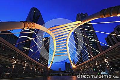 Bangkok downtown skywalk