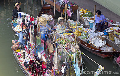 Bangkok Floating Market Editorial Photo