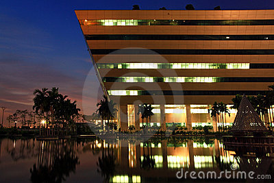 Bangkok Government Complex dusk Editorial Photography