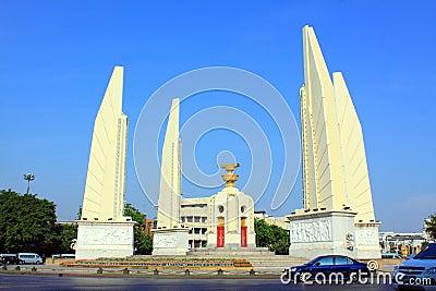 Bangkok Landmark – Democracy Monument Editorial Stock Image