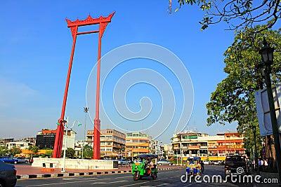 Bangkok Landmark - Giant Swing Editorial Stock Photo