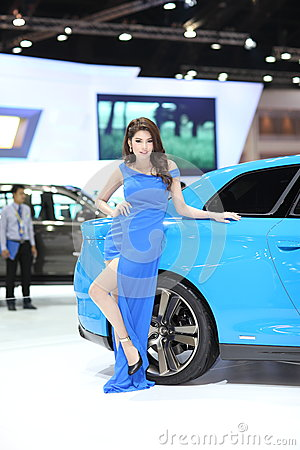 BANGKOK - MARCH 26 : Chevrolet  car with Unidentified model on display at The 34th Bangkok International Motor Show 2013 on March Editorial Photography