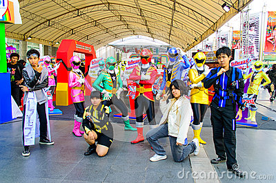 Cosplayer from Gokaigers. Editorial Stock Photo