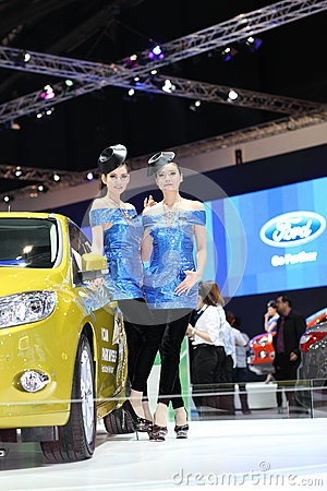 BANGKOK - MARCH 26 : Ford car with Unidentified model on display at The 34th Bangkok International Motor Show 2013 on March 26, 20 Editorial Photo