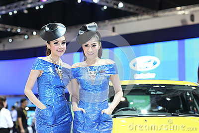 BANGKOK - MARCH 26 : Ford car with Unidentified model on display at The 34th Bangkok International Motor Show 2013 on March 26, 20 Editorial Stock Image