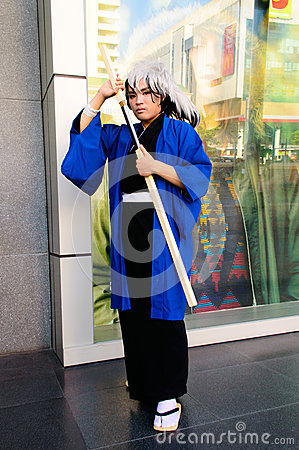 Nura Rikuo Cosplayer from Nurarihyon no Mago. Editorial Image