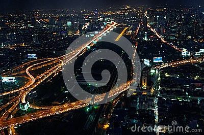 Bangkok at night Editorial Image