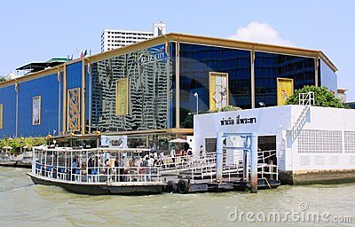 Bangkok Riverside Scene Editorial Photography
