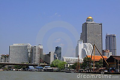 Bangkok Riverside Scene Editorial Stock Photo