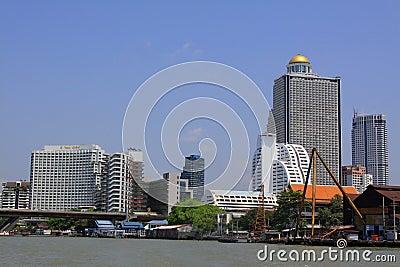 Bangkok Riverside Scene Editorial Stock Photo