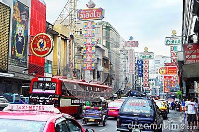 Bangkok s Chinatown Editorial Photography