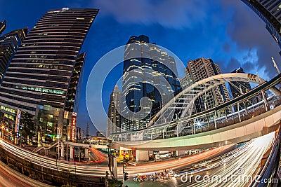 Bangkok Sathorn Building Editorial Stock Image