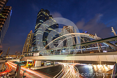 Bangkok Sathorn Building Editorial Stock Image