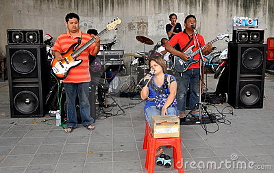 Bangkok, Thailand: Blind Musicians Editorial Stock Photo