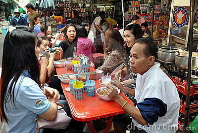Bangkok, Thailand: Chinatown Restaurant Editorial Stock Image
