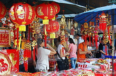 Bangkok, Thailand: Chinese New Year Decorations Editorial Stock Photo