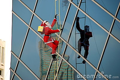 Bangkok, Thailand: Christmas Santa Decoration Editorial Photography