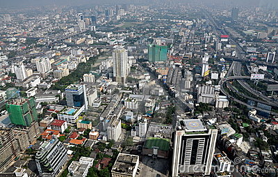 Bangkok, Thailand: City Panorama Editorial Image