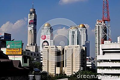 Bangkok, Thailand: City Skyline View Editorial Photo