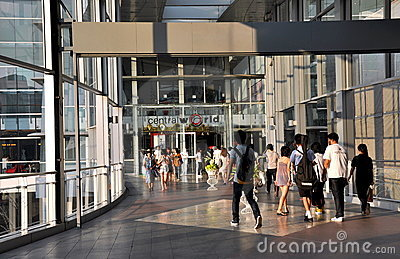 Bangkok, Thailand: Entrance to Central World Editorial Stock Image