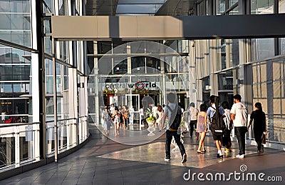 Bangkok, Thailand: Entrance to Central World Editorial Stock Image