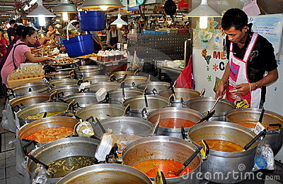 Bangkok, Thailand: Food at Chatuchak Market Hall Editorial Stock Photo