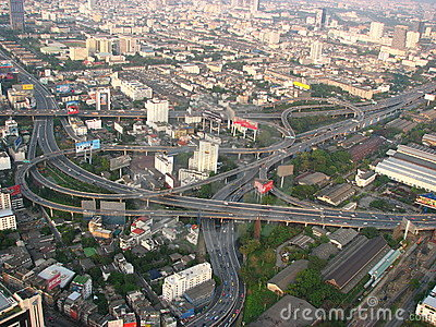 Bangkok, Thailand Highways Editorial Stock Image