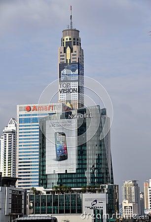 Bangkok, Thailand: Hotels on Ratchaprasong Editorial Image