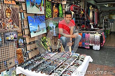 Bangkok, Thailand: Khao San Rd Vendor Editorial Image