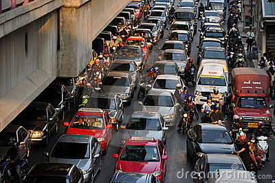 Bangkok, Thailand: Legendary Traffic Jams Editorial Photography
