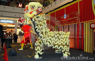 Bangkok, Thailand: Lion Dancers Editorial Stock Image
