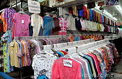Bangkok, Thailand: Little India Clothing Shop Editorial Stock Image
