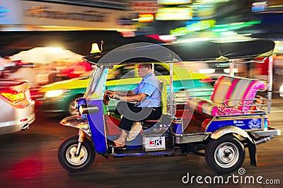 Bangkok taxi Editorial Stock Image