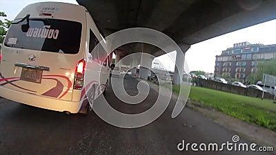 Bangkok, Thailand-November29 2018: Jedzie miastowy samochodowego czasu upływ wiele zdjęcie wideo