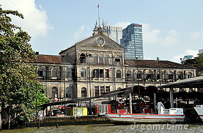 Bangkok, Thailand: Old Customs House Editorial Stock Photo