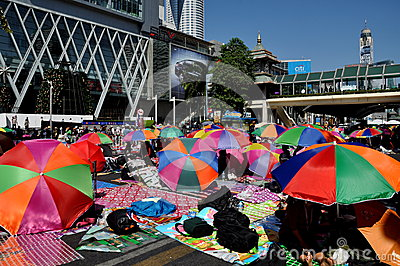 Bangkok, Thailand: Operation Shut Down Bangkok Protestors Editorial Photography