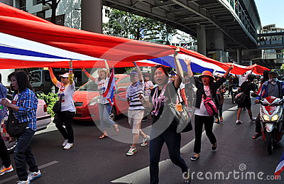 Bangkok, Thailand: Operation Shut Down Bangkok Protestors Editorial Stock Image