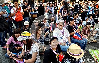 Bangkok, Thailand: Operation Shut Down Bangkok Protestors Editorial Image
