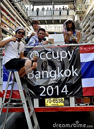 Bangkok, Thailand: Operation Shut Down Bangkok Protestors Editorial Photography