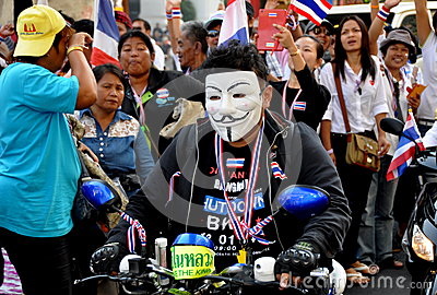 Bangkok, Thailand: Operation Shut Down Bangkok Protestors Editorial Stock Image