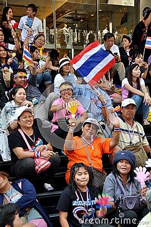 Bangkok, Thailand: Operation Shut Down Bangkok Protestors Editorial Photo