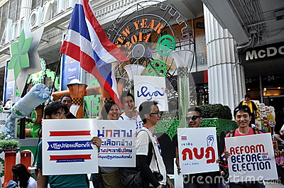 Bangkok, Thailand: Operation Shut Down Bangkok Protestors Editorial Image