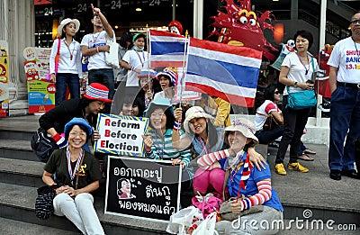 Bangkok, Thailand: Operation Shut Down Bangkok Protestors Editorial Stock Photo