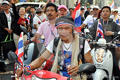 Bangkok, Thailand: Operation Shut Down Bangkok Protestors Editorial Photo