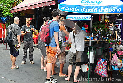 Bangkok, Thailand: People on Khao San Road Editorial Photography