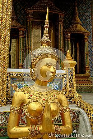 Bangkok, Thailand: Royal Palace Gilded Aponsi