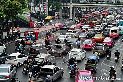 Bangkok, Thailand: Rush Hour Traffic Jam Editorial Stock Image