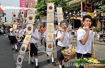 Bangkok, Thailand: Student Parade on Khao San Rd Editorial Stock Photo