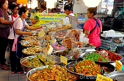 Bangkok, Thailand: Or Tor Kor Food Market Editorial Image