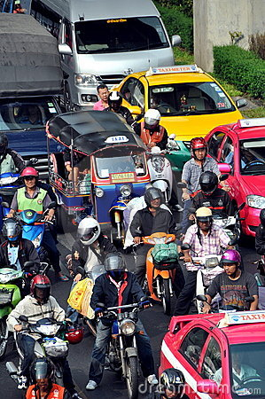 Bangkok, Thailand: Traffic on Rama I Road Editorial Image